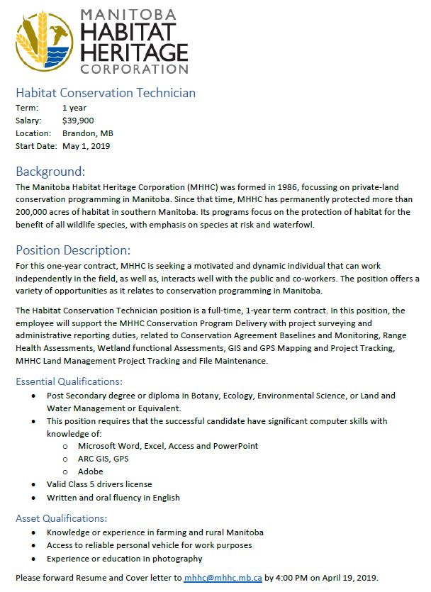 test Twitter Media - RT @ACCGIS: @MBHabitat is looking for a Habitat Conservation Tech in #BdnMB @ManitobaGIS @ACCMB https://t.co/1LTLEq4RQy