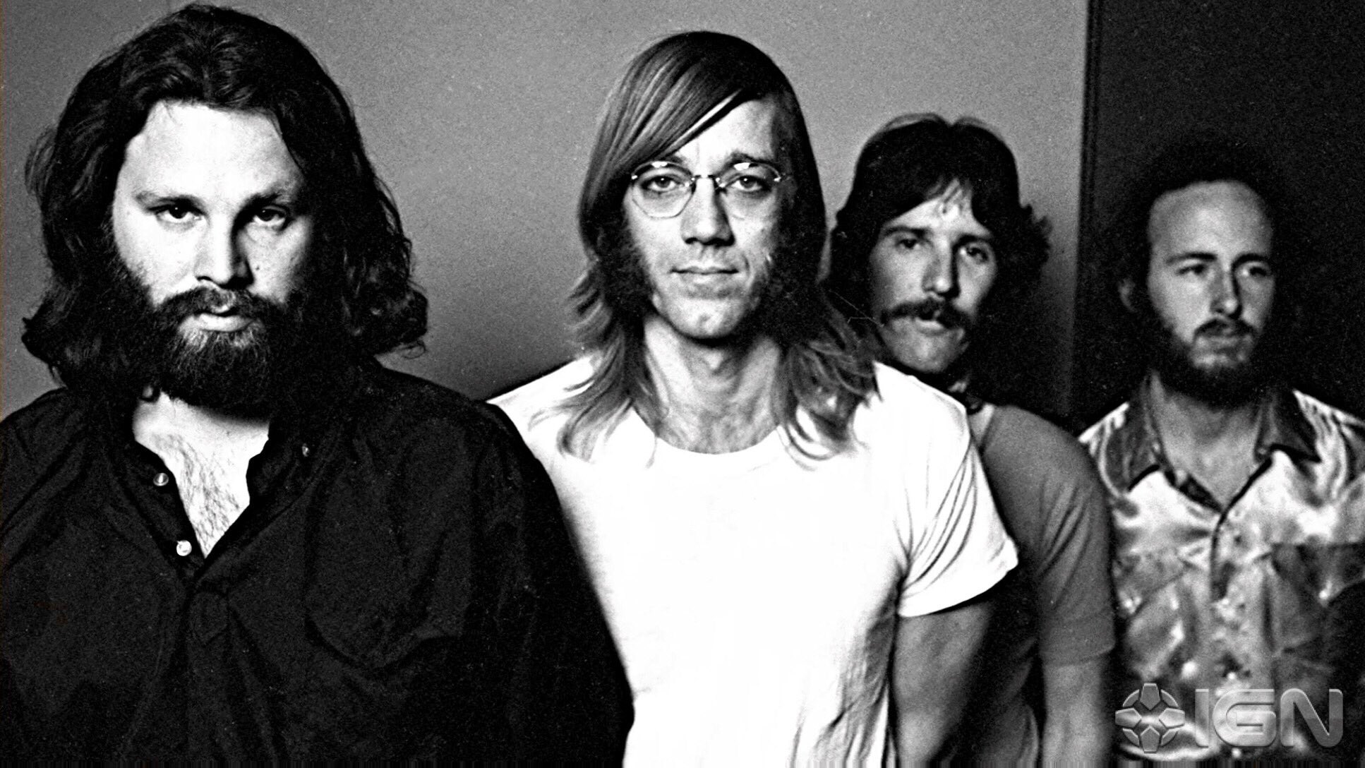 LOS ANGELES, CA - 1970: The Doors—left to right: frontman Jim Morrison (1943-71), organist Ray Manzarek (1939-2013), drummer John Densmore (1944- ), and guitarist Robby Krieger (1946- )—during the L.A. WOMAN recording sessions. Photo: Wendell Hamick https://t.co/xUBRjShX2o
