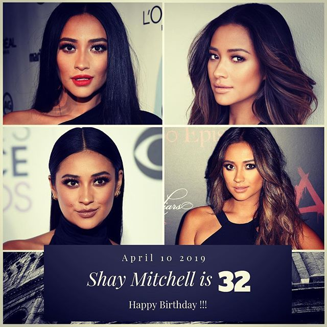 Actress Shay Mitchell turns 32 today !!!    to wish her a happy Birthday !!!