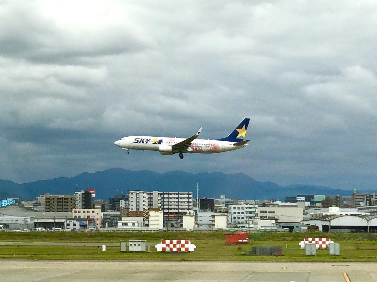test ツイッターメディア - 『タカガールジェット就航イベント』を福岡空港で開催♡福岡からの初フライト記念でSKY8便の搭乗者171名の方にスカイマークとタカガールがコラボしたオリジナルタオル&ステッカーが配られました。4/22東京、5/11.12福岡タカガール♡デーを盛り上げてくれます。 #タカガール  #スカイマーク  #sbhawks https://t.co/XOwi8nxLp9