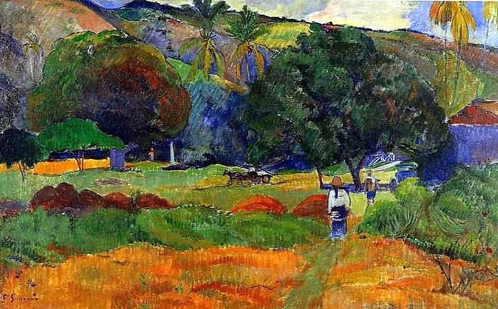 Paul Gauguin, La piccola valle, 1891 Buongiorno ☀️ https://t.co/lJw4GaOT2E