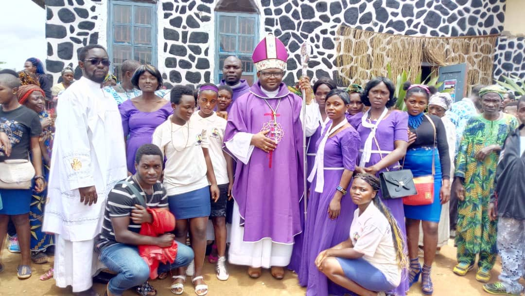 test Twitter Media - A great picture of Bishop Michael Bibi on a parish visitation just received. Let's pray for him, for Archbishop Cornelius and for all the clergy and people of the Diocese of Bamenda as we approach Holy Week. https://t.co/1ZmQozHjU7