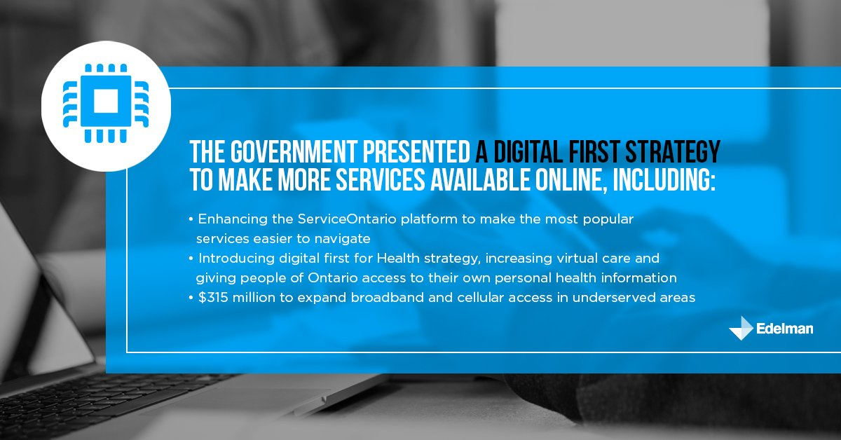 Ontario is going Digital First. The #ONBudget laid out the Government's commitment to making services easier and more accessible #onpoli https://t.co/i6y9kNk21U