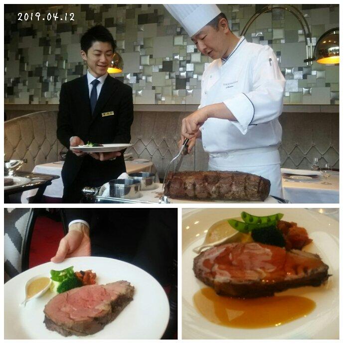 test ツイッターメディア - 今日は丸ノ内の東京會舘で食事をしてきました。レストラン、ロッシーニの一番のお薦めのローストビーフ。すぐ横まで来て、シェフがローストビーフを切り分けるパフォーマンス。大きく厚くボリュームたっぷり!美味しく頂いてきました。 https://t.co/2Xj5U3wnzt