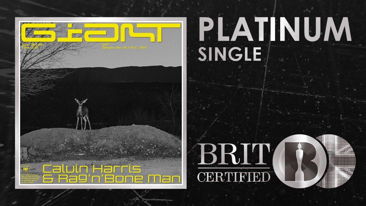 RT @BRITs: Gigantic congratulations to @CalvinHarris and @RagNBoneManUK as 'Giant' is #BRITcertified Platinum! 🇬🇧💿 https://t.co/p87K2zMyCD