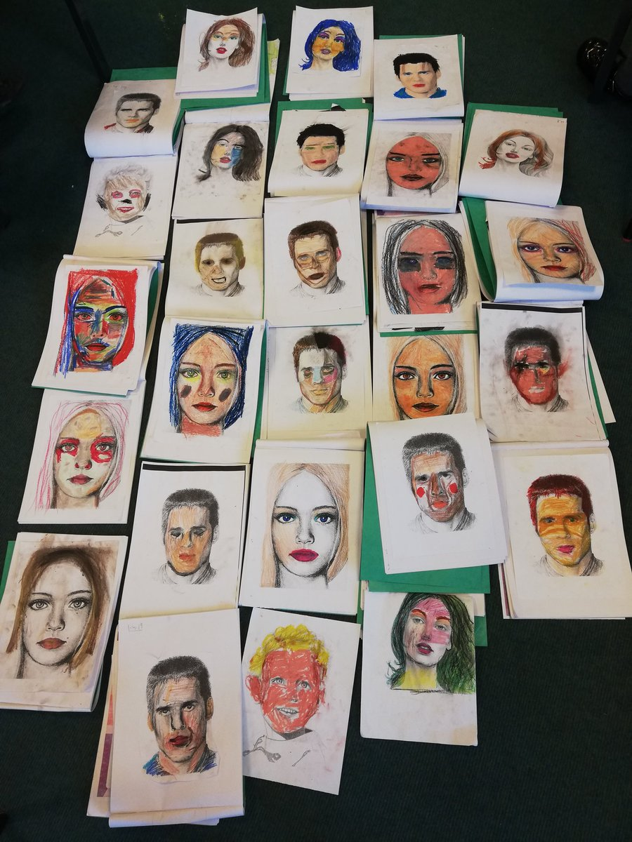 test Twitter Media - Year 3 had fun using pastels to design portraits in the style of Lucian Freud this afternoon. We thought about using different shades to create tones on a face https://t.co/EUvRzxvl1N