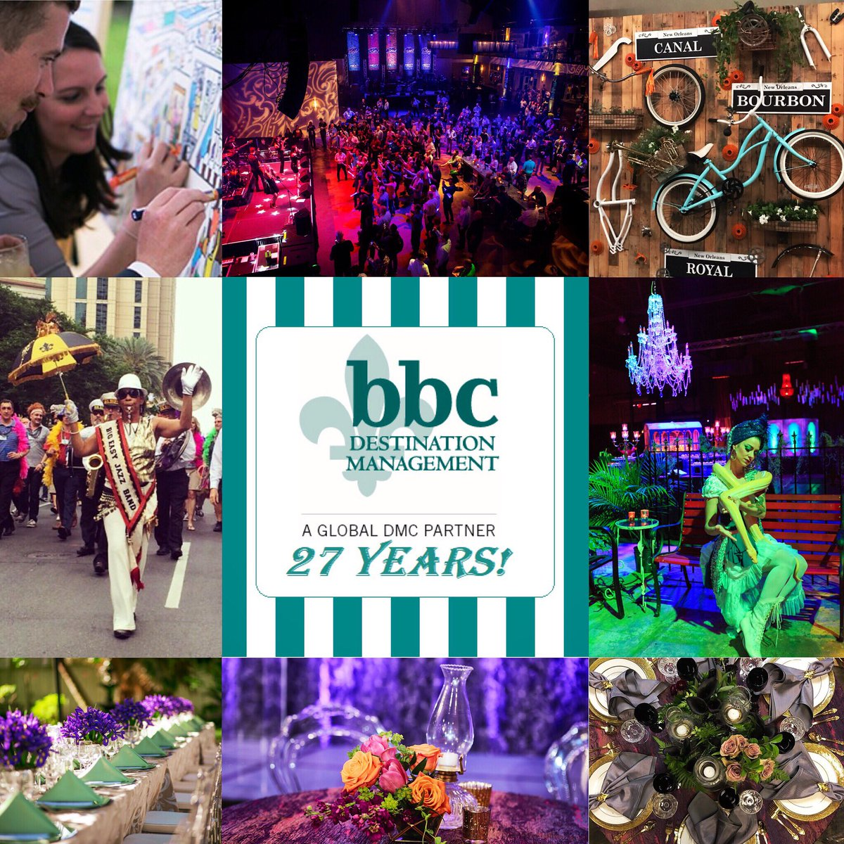 test Twitter Media - 🎂 It's our 27th Anniversary today!! 🤗 We'd like to thank every one of our vendors, staff, clients, and partners who have brought us all this way! Thank you and let's celebrate! 🎇🎉 #bbcdmc #bbccreative #eventmanagement #eventplanner #nola #nolaevents #anniversary #27years https://t.co/0ycVf3567S