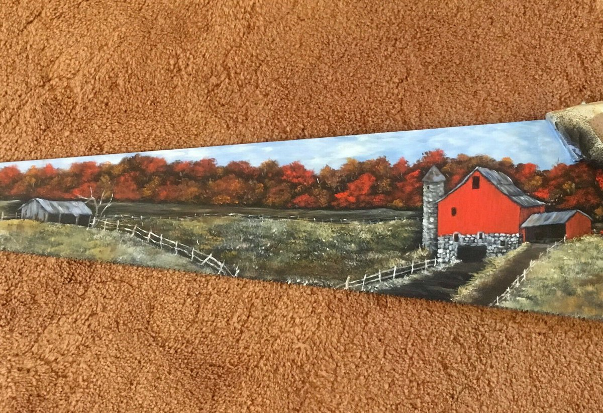 test Twitter Media - Fall Old Dairy Farm #VintageHandsaw #oilpainting #handpainted #giftidea #giftforhim #giftforher #FathersDay #DadsDay #MothersDay #MomsDay  https://t.co/ub5D2uOzxm  https://t.co/go12gzkTYc