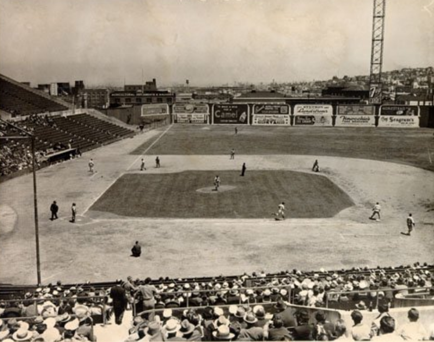 Seals Stadium, San Francisco 1945 - Built in 1931, this legendary ballpark was home to San Francisco Seals and for four magical years, Joe DiMaggio. From 1932 to 1935, DiMaggio hit .361 for Seals and in 1933 he hit safely in 61 consecutive games, a Pacific Coast League record https://t.co/bF7hRkEDeq