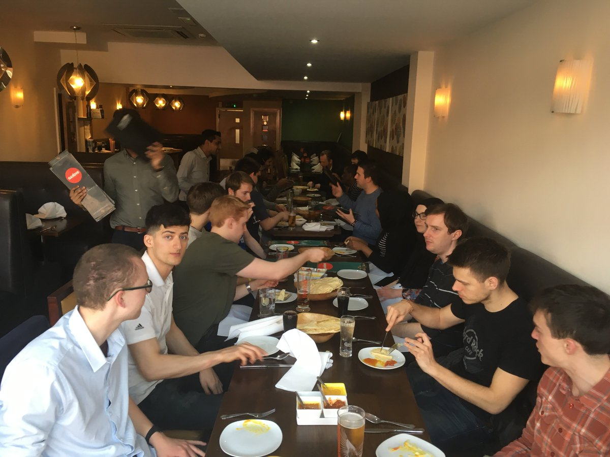 test Twitter Media - Last night CDT-SIS students, staff and industry delegates met at Ghandi's of Portswood in Southampton for a meal to celebrate the opening of the week long CDT SIS intensive module. @UoSEngineering https://t.co/PLzHYx1CU7