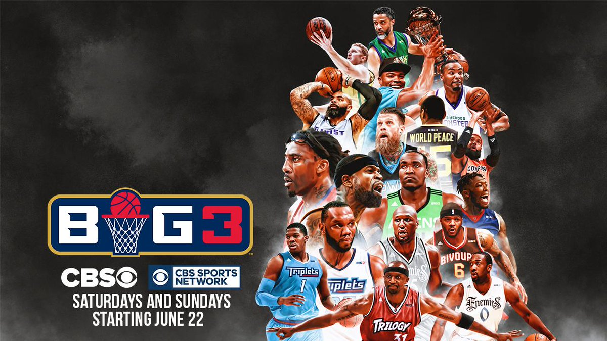 Found us a new home. @thebig3 is going to be LIVE on @CBS every weekend, all summer long! https://t.co/bfKg5bh6st