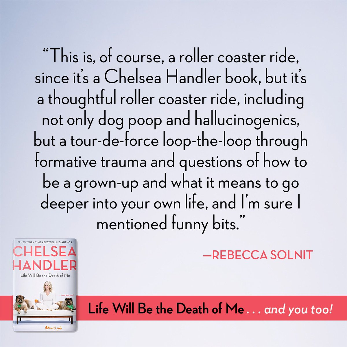 RT @chelseahandler: Life Will Be the Death of Me ???? Out APRIL 9! #LIFEWILLBETHEDEATHOFME  https://t.co/qJvOVkjgYt https://t.co/4kcZ7kd63U