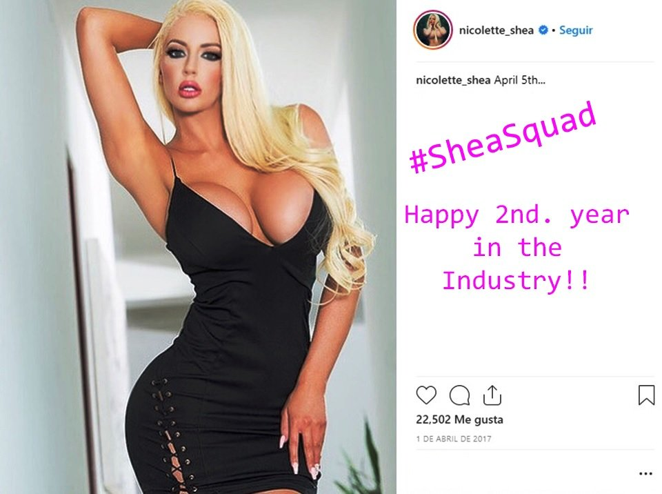 Happy 2nd. year in the Industry @Nicolette_Shea!!... #SheaSquad! @ClubSheaDotCom