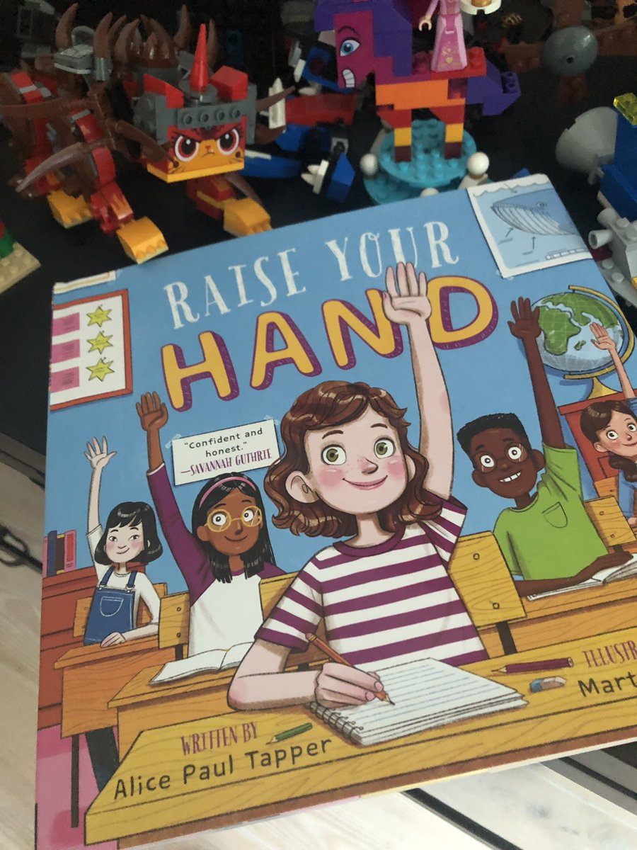 This is a new favorite in our house and now it's a bestseller! Alice Tapper's #RaiseYourHand congrats Alice! https://t.co/fN09QnckML