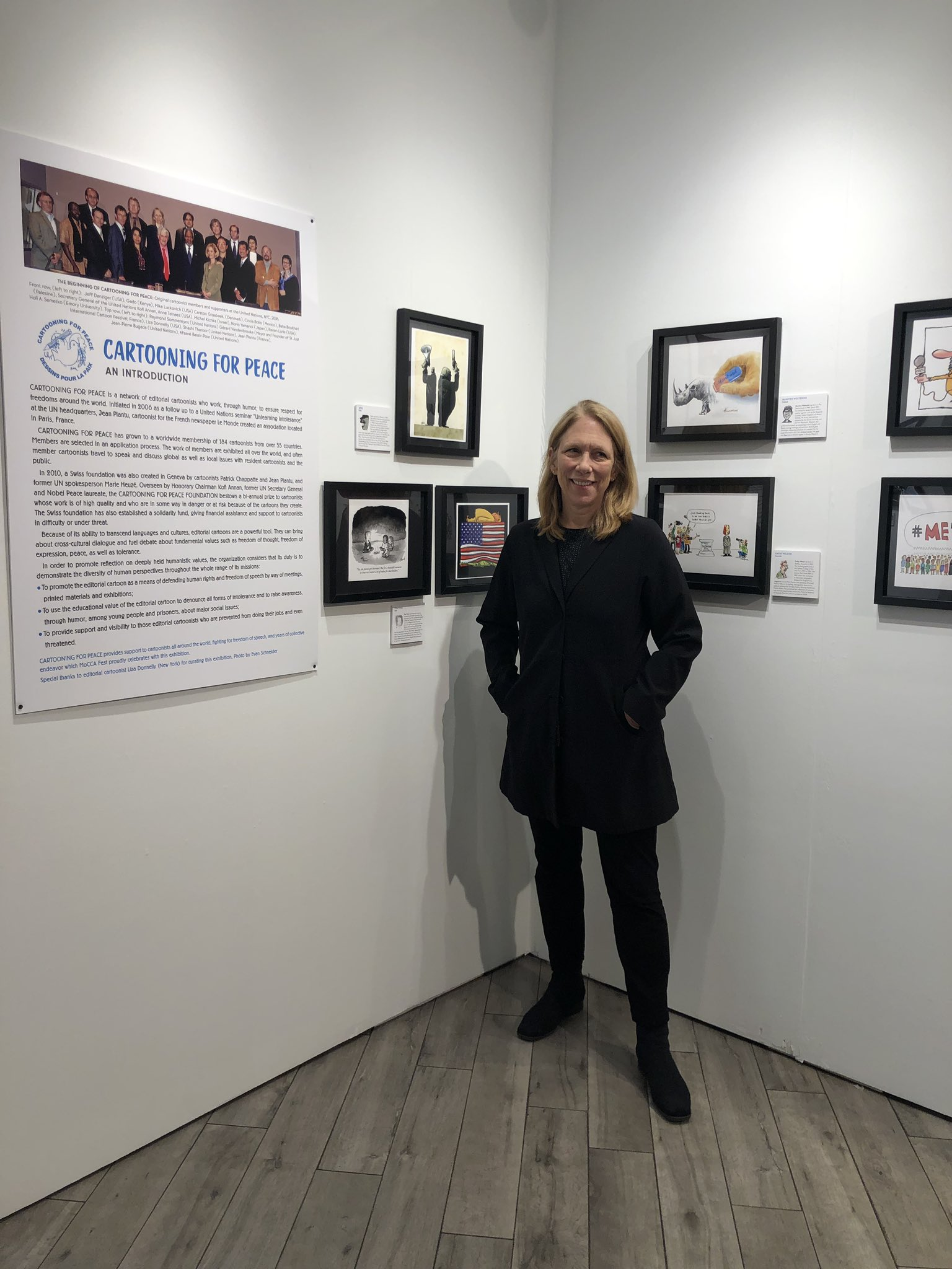Loved curating this show! @CartooningPeace is dear to my heart, and being a member for 13 years, I now have so many friends around the world who are political cartoonists. Thanks to @CartooningPeace @MoCCAnyc and the @SOI128 AND the amazing artists! #MOCCAFest2019 #peace #freedom https://t.co/zV3SFfGLHX