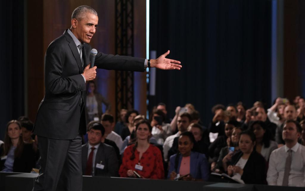 "Obama jokes about ""politicians who could use some meditation"" in apparent jab at"