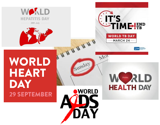 test Twitter Media - 'World Days' attract less attention when they occur during a weekend. 2019 is a bleak year for #globalhealth days: #WorldTBDay, #WorldHealthDay, #WorldHepatitisDay, #WorldHeartDay, #WorldAIDSDay all fall on Sundays. #WorldMalariaDay2019 go mad! [it's on *Thursday* 25th April] https://t.co/iId0sTbsBP