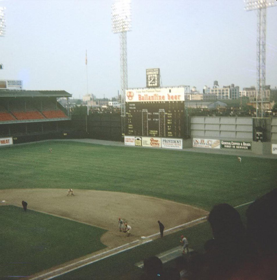 Connie Mack Stadium, Philadelphia, June 1, 1968 - Top of first and Reds are threatening with Pete Rose on second and Alex Johnson on first. But Phillies starter Woodie Fryman gets out of inning unscathed and from there his team routed Reds 12-0 on 15 hits and his 4-hit shutout https://t.co/TyCHmSwInY