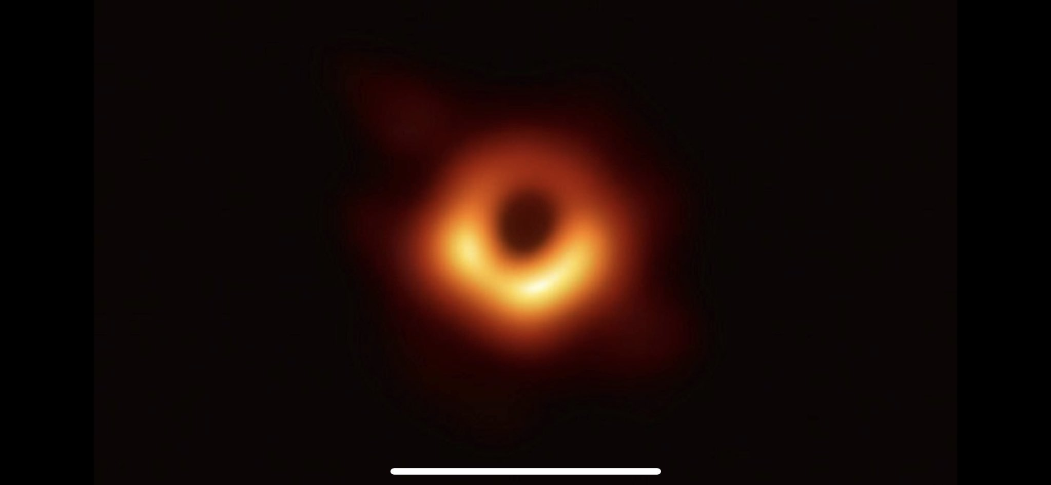 The first ever image of an actual black hole makes me tear up 🕳 am I the only one?  Truly special times we live.  Interface reference is a joke to make myself laugh. https://t.co/vq8CKibDlP