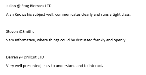 test Twitter Media - Some more great feedback from candidates at Stag Biomass LTD, @SmithsGlosLtd & DrillCut LTD on our 'Site Supervision Safety Training Scheme Refresher' course.#Feedback #CITB #healthandsafety https://t.co/PjszA8ZxYA