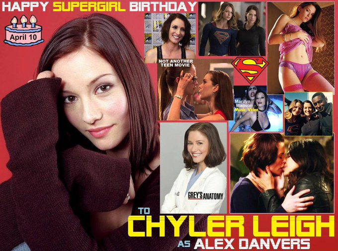 Happy birthday Chyler Leigh, born April 10, 1982.