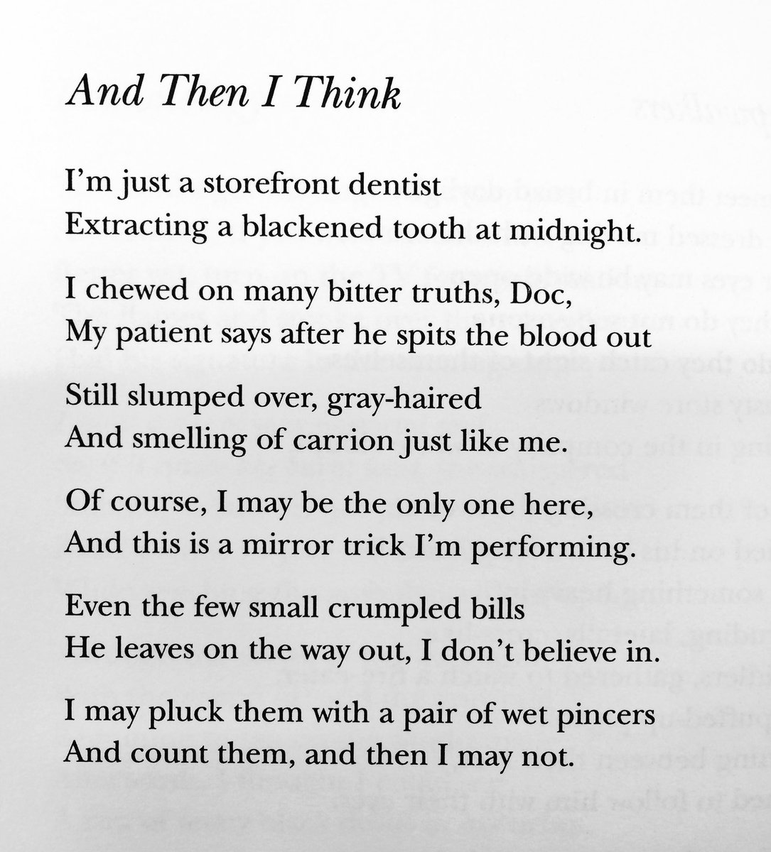 Poet: Charles Simic  Book: Night Picnic (2001) https://t.co/IhsARaHMcy