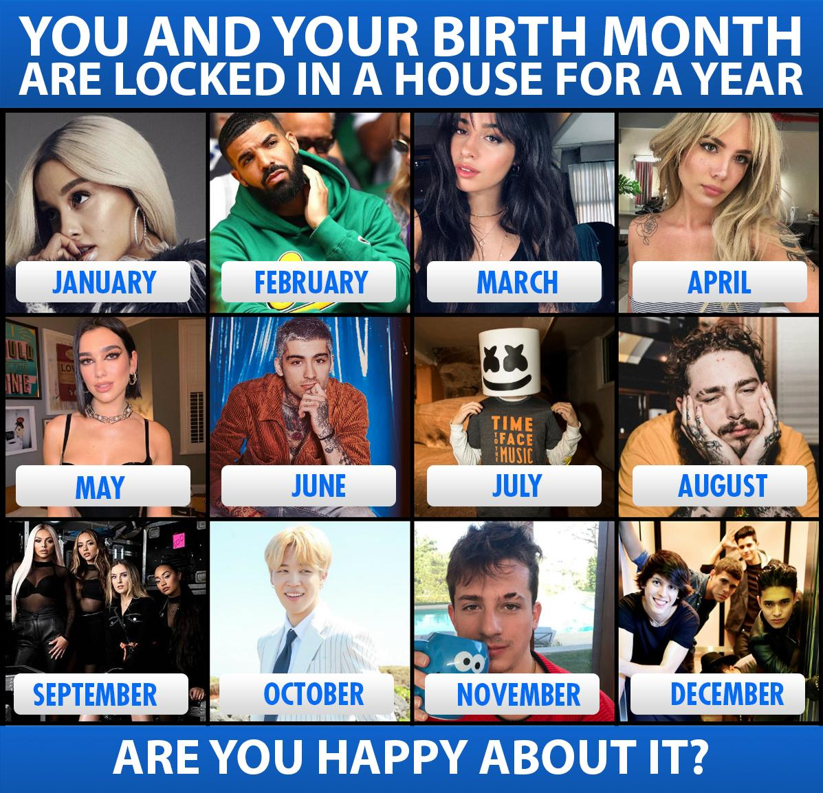 test Twitter Media - Who's your roomie for a year? Are you happy about it?  @ArianaGrande @Drake @Camila_Cabello @halsey @DUALIPA  @zaynmalik @marshmellomusic @PostMalone @LittleMix #Jimin @BTS_twt https://t.co/ml45YYAfze