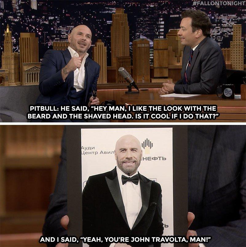RT @FallonTonight: John Travolta used @Pitbull as inspiration for his latest look https://t.co/46AsJTJ07W https://t.co/EPwy9u2mh0