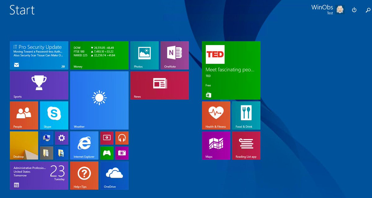 test Twitter Media - For its time, this was a bold change to a desktop interface. #Windows8 #StartScreen https://t.co/859eAgfsff
