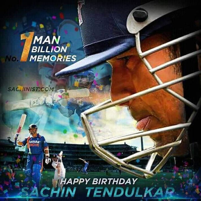 Happy birthday Sachin Tendulkar......