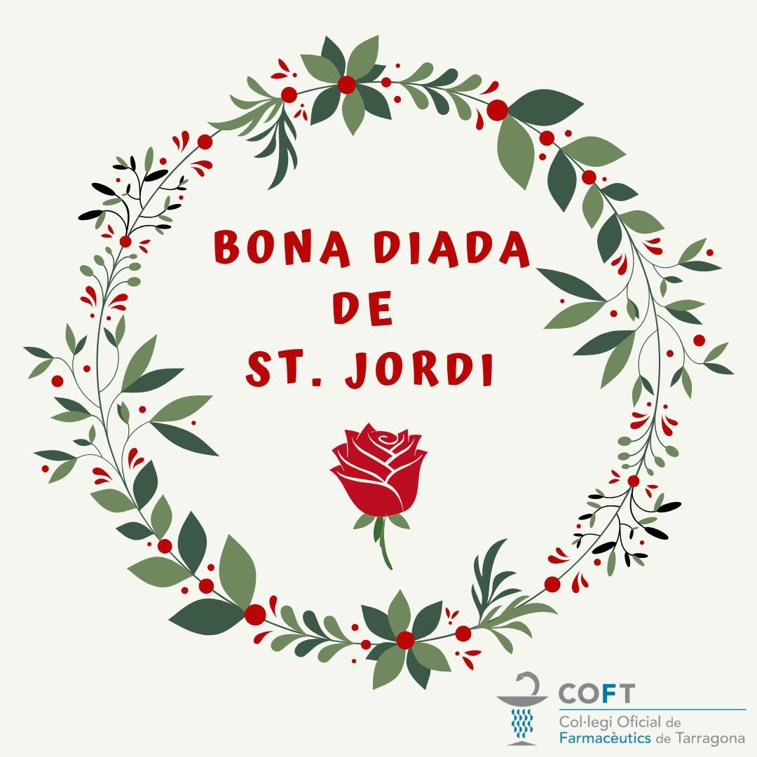 test Twitter Media - Des del @COFTarragona us desitgem molt bona Diada de Sant Jordi. Que us regalin moltes roses i molts llibres. 🐉📖🌹 https://t.co/HlAiZZrUc4