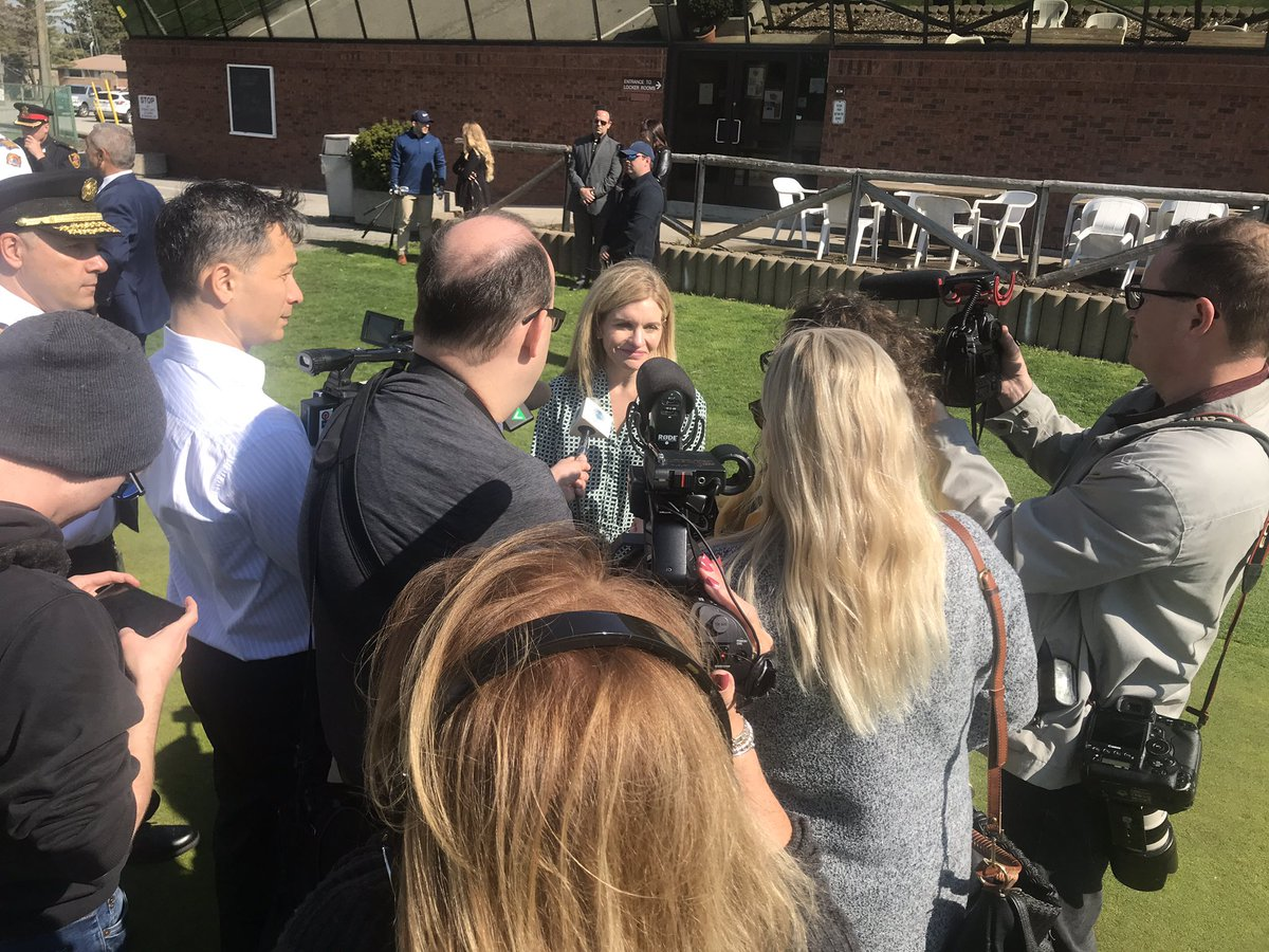 test Twitter Media - Our own @kwillism in a media scrum today @RoselandGolf for @CityWindsorON announcement of welcoming us as a partner to @canampolicefire games in 2022. Today was kick off for the #golf series ! #YQG Kim spoke of the need for #mentalhealth education/ awareness for #FirstResponders https://t.co/vdvwJDuoVb