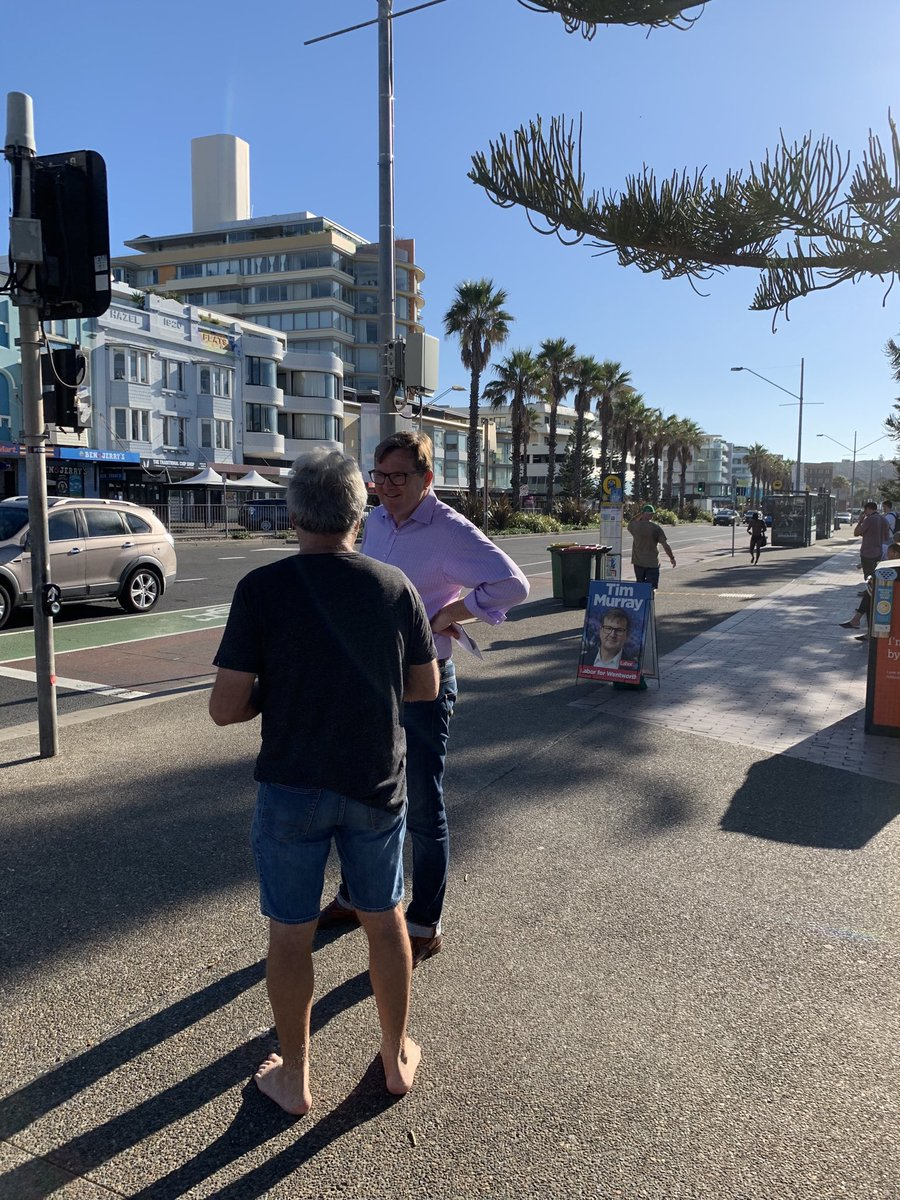 RT @Timpmurray: Campaigning at Bondi Beach this morning and what a beautiful morning it was! https://t.co/YdMP4JJ5ta