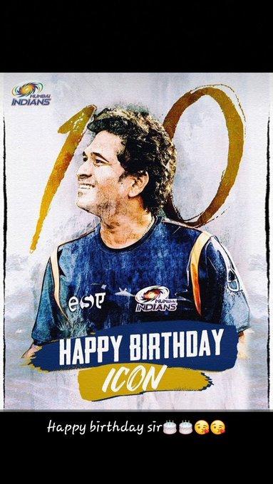 Happy birthday to u sachin Tendulkar