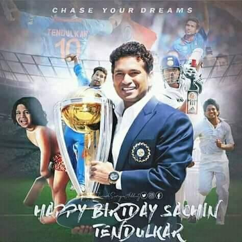 Wish u a very very happy birthday to you my favorite person  Love u Sachin Tendulkar