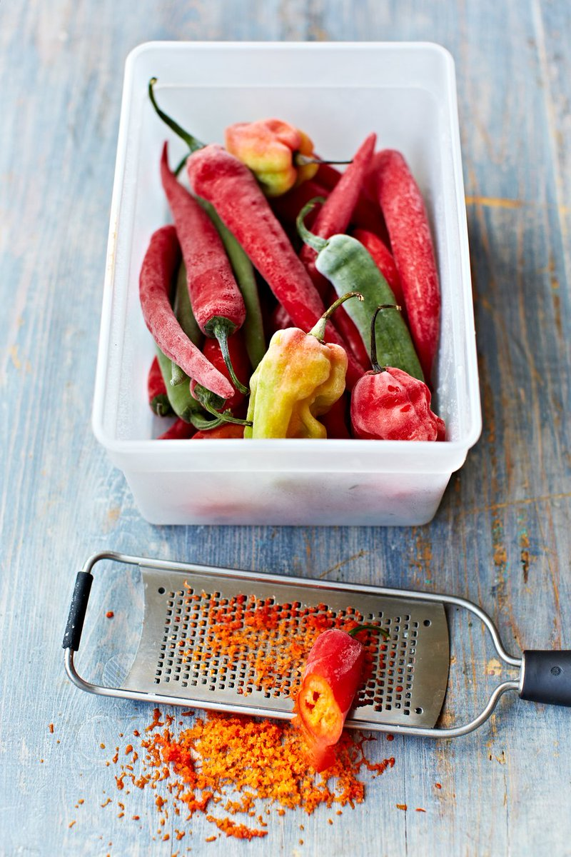 Freeze chilli and ginger, then just grate on top of meals or into sauces when needed. https://t.co/tjpApqmnNf