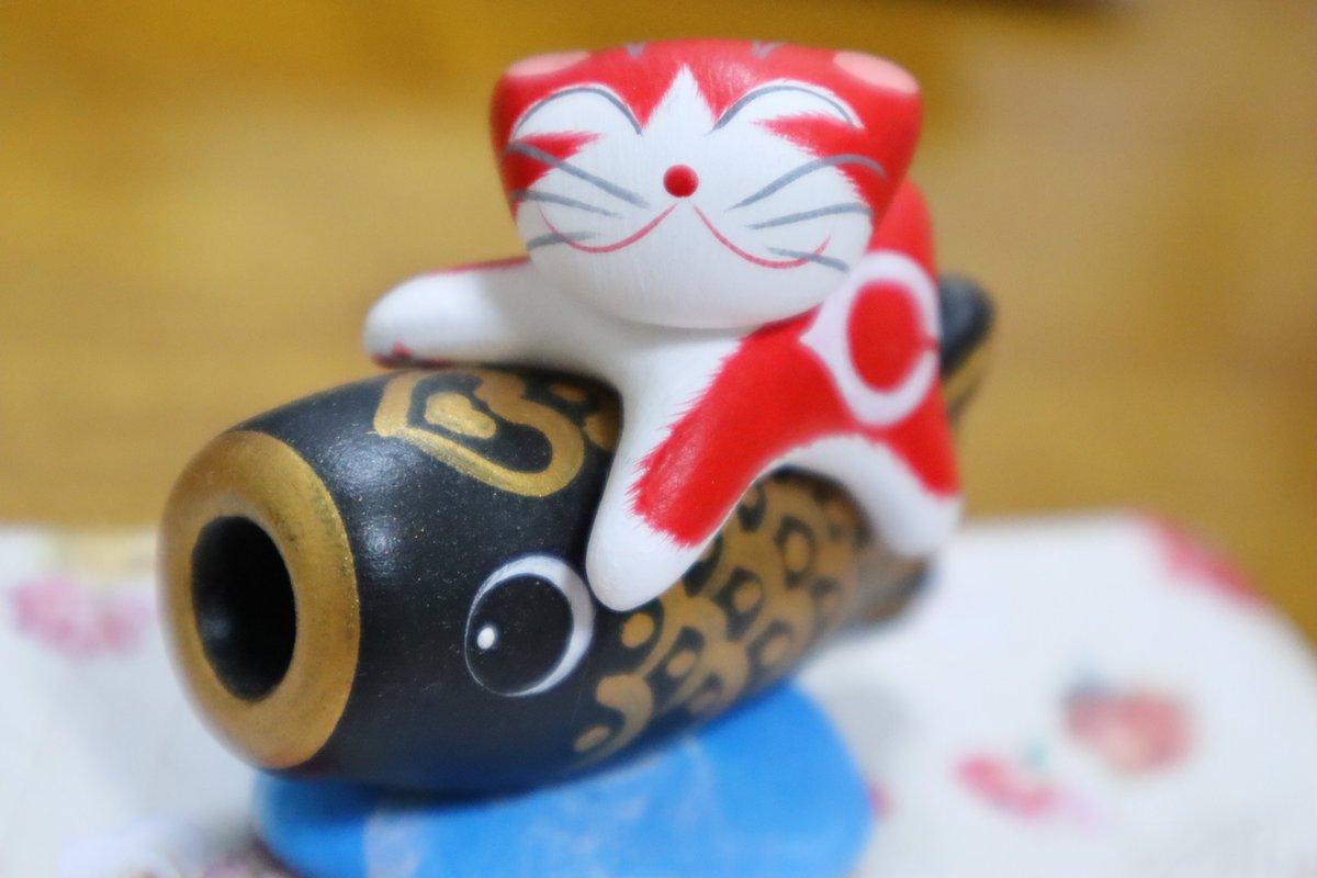 test ツイッターメディア - カープ6連勝❗️ 写真は、先日購入した尾道の『花ねこ』さん作、カープ猫😸 @_hananeko #尾道 #花ねこ #猫 #ねこ #ネコ #カープ https://t.co/iVx26FAtRQ
