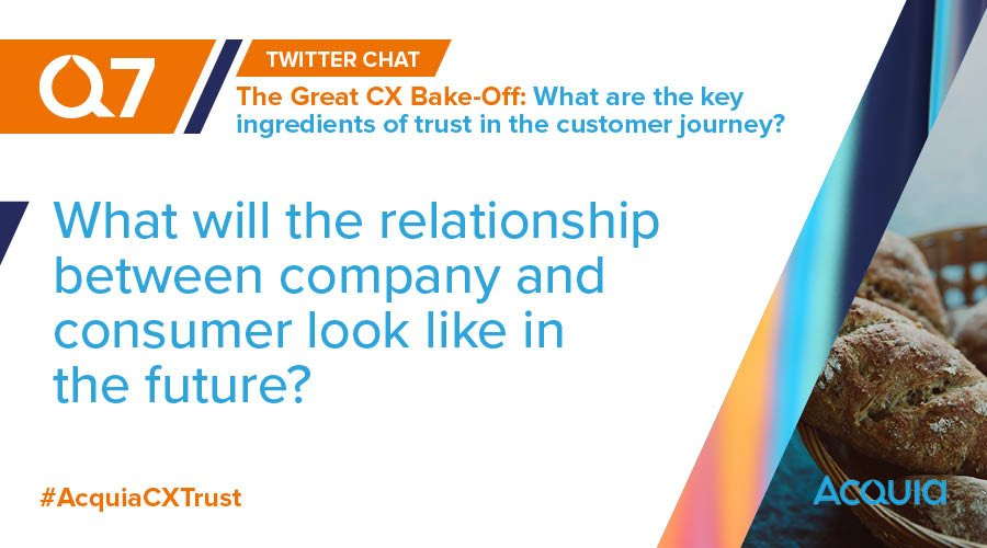 RT @acquia: Q7 - What will the relationship between company and consumer look like in the future? #AcquiaCXTrust https://t.co/6jQ07HbK2D