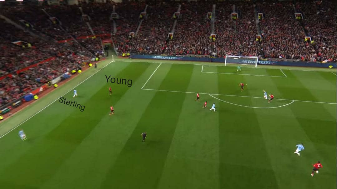 Man marking from Ashley Young. #MUNMCI https://t.co/iR5W1IxDJV