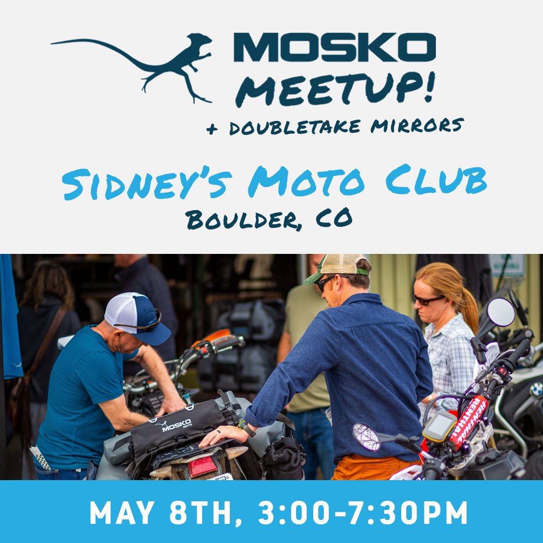 test Twitter Media - Boulder – we're coming for ya! Join Mosko Moto and DoubleTake Mirrors for a Meetup event hosted by Sidneys Moto Club.   When: Wed, May 8th 3p – 7:30pm  Where: Sidney's Moto Club, Boulder, CO https://t.co/YggLHXU6BG   #moskomoto #advrider #dualsportadv #dualsportlife https://t.co/0r2Sz3wvQM
