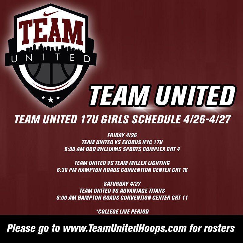 RT @TeamUnitedGBB: 17U Boo Williams Invitational Schedule Updates https://t.co/hC5cAqkcqL