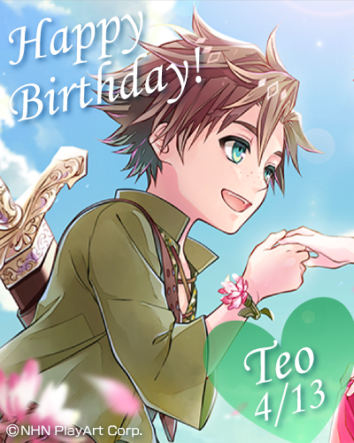 test ツイッターメディア - 【Happy Birthday!!】 本日はイナコの騎士、 テオ(cv前野智昭)の誕生日です!  本日限定のログインボイスの他、 ガチャ確率アップキャンペーンも実施中! テオへのお祝いの言葉を届けてあげてください♪  テオ本編もいよいよ佳境、 6章&DAME ENDは現在配信中です!  #テオ #ダメプリ https://t.co/UGgWn6A5kJ