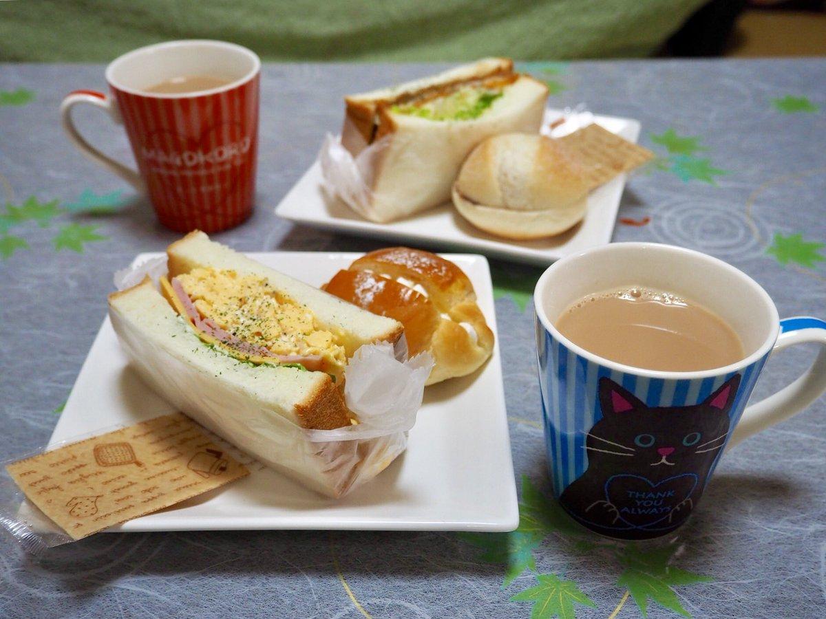test ツイッターメディア - おはようさん( ´ ▽ ` )ノ  今朝は福江のまちなかにある サンドイッチ専門店 コーヒー&サンドイッチ moimoiさんのパンであさごはん♡╰(*´︶`*)╯♡  ハム・たまご・チーズのサンドと アジフライサンド 生チョコとキャラメルカスタードのスイーツサンドを。 https://t.co/E8UXHATOdw