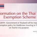 RT @MDVForeign: Information on the Thailand Visa Exemption Scheme  https://t.co/kzZcPqesgd https://t.co/6ZyvpbiMb8