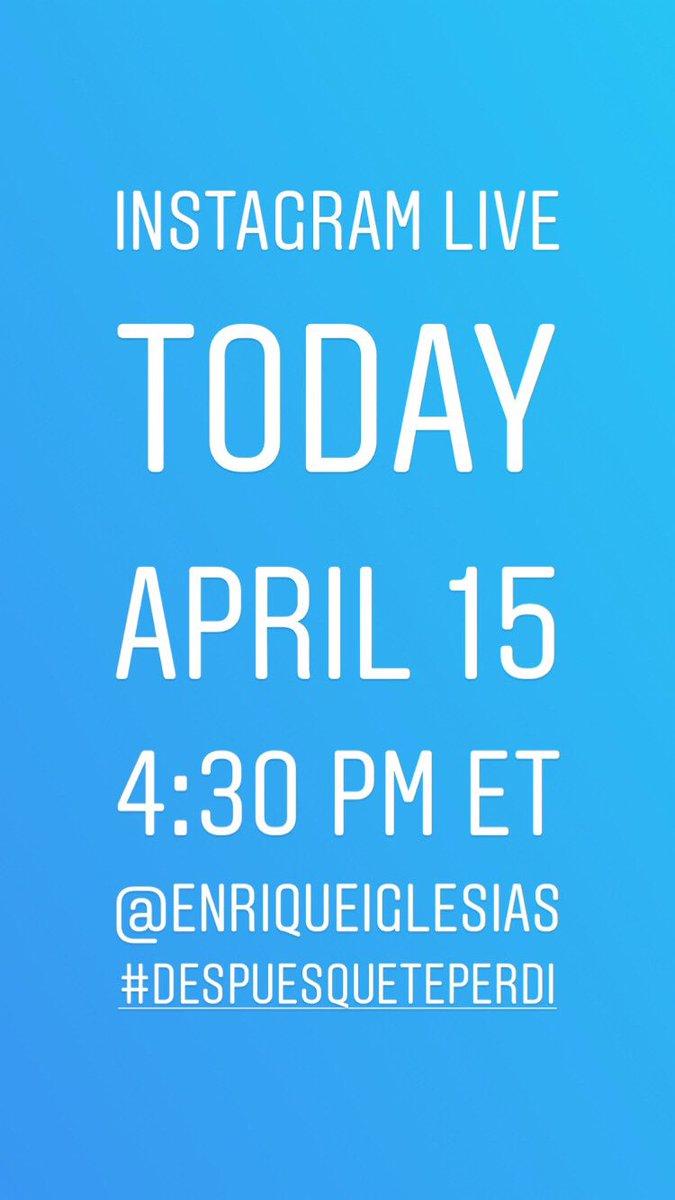 See you guys at 4:30 PM ET!!! https://t.co/LtRhjmrwpN #DESPUESQUETEPERDI https://t.co/0sQ8b1kSrc