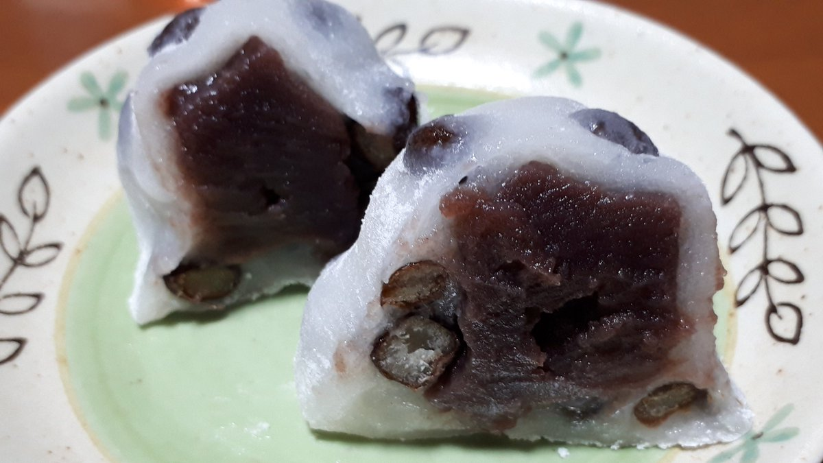 test ツイッターメディア - 昨日のデザートですが、「出町ふたば」の「名代豆餅」を食べました。京都でナンバーワンの人気の和菓子。美味しかったですよ~。(笑)  motti https://t.co/nHGY0f3Vvm