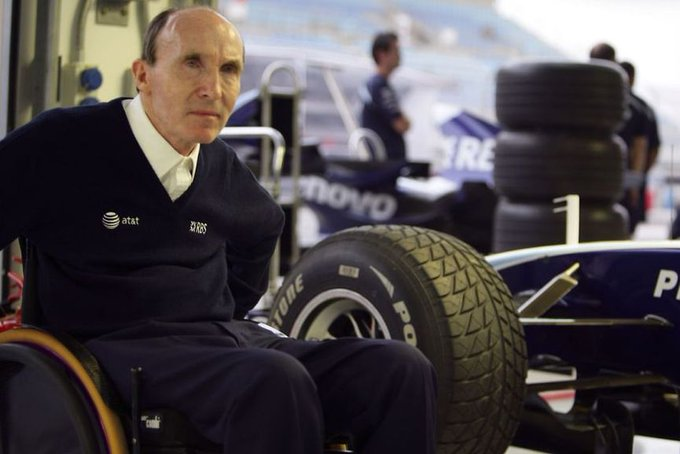 Happy to one of the greatest living legends of - Frank Williams