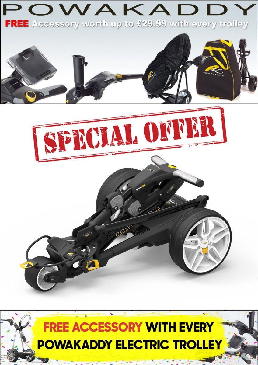 test Twitter Media - NEW 2019 @PowaKaddy_Golf Trolleys #PRICEDROP @CottrellParkLtd.  Prices starting from just £449.99 with the FW3 (Lithium battery with 5yr Warranty)  FREE @PowaKaddy_Golf accessory (worth up to £29.99), when you buy any Powakaddy electric #trolley.  tel: 01446 781781 (opt. 1) https://t.co/uBjI76FfKr