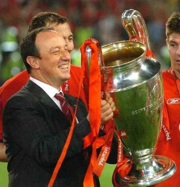 "Happy Birthday to our Legendary Liverpool Manager ""Rafael Benitez\"" who turns 59 today."