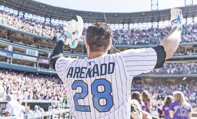 Happy birthday to my boy nolan arenado one of my huge role models